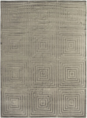 Exquisite Rugs Embossed Hand Woven Dark Gray Area Rug