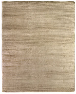 Exquisite Rugs Herringbone Hand Woven Light Beige Area Rug