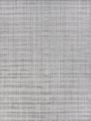 Exquisite Rugs Robin Stripe Hand Woven Gray Area Rug