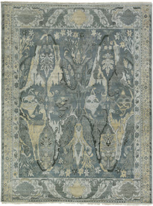 Exquisite Rugs Jurassic Hand Knotted Gray - Beige Area Rug