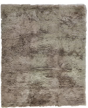 Exquisite Rugs Royal Sheepskin Shag Camel Area Rug