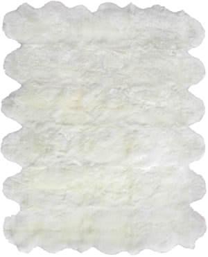 Exquisite Rugs Royal Sheepskin Shag Ivory Area Rug