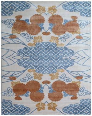 Exquisite Rugs Koda Hand Woven Orange - Blue Area Rug