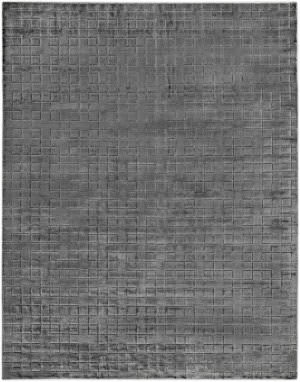 Exquisite Rugs Smooch Geo Hand Woven Dark Gray Area Rug