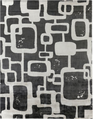Exquisite Rugs Koda Hand Woven Gray - Black Area Rug
