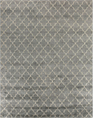 Exquisite Rugs Luxe Look Hand Woven Silver Area Rug