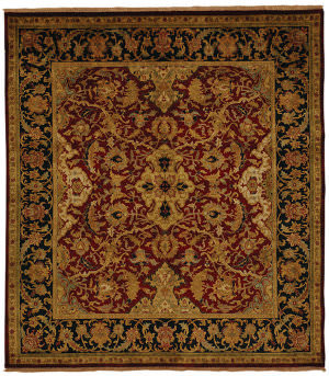 Exquisite Rugs Polonaise Hand Knotted Burgundy Area Rug