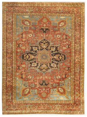 Exquisite Rugs Serapi Hand Knotted 7046 Rust Area Rug
