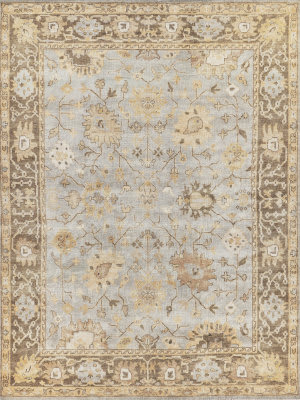 Exquisite Rugs Oushak Hand Knotted Brown - Gray Area Rug