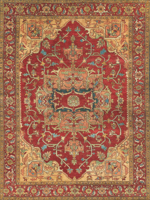 Exquisite Rugs Serapi Hand Knotted Red Area Rug