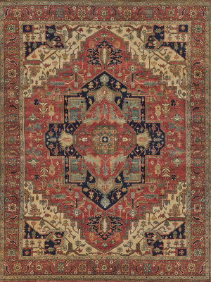 Exquisite Rugs Fine Serapi Hand Knotted Red Area Rug
