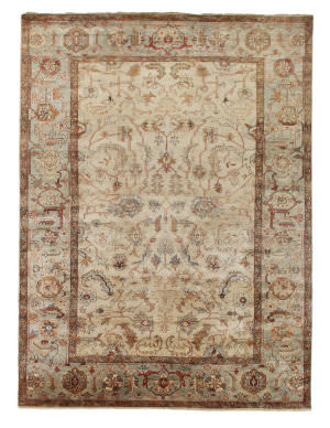 Exquisite Rugs Serapi Hand Knotted Ivory - Light Blue Area Rug