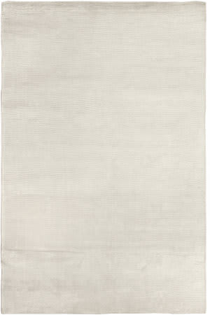 Exquisite Rugs Courduroy Hand Woven White Area Rug
