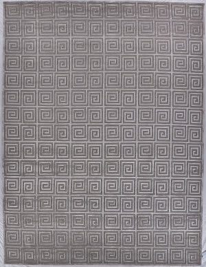 Exquisite Rugs Greco Hand Knotted Silver Area Rug