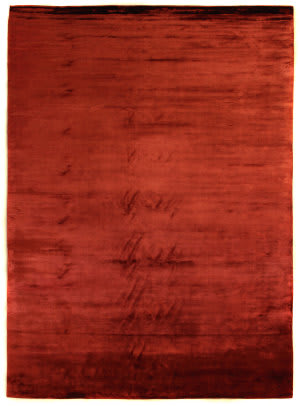 Exquisite Rugs Plain Dove Hand Woven Red Area Rug