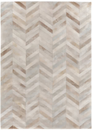 Exquisite Rugs Natural Hair on Hide White - Brown Area Rug