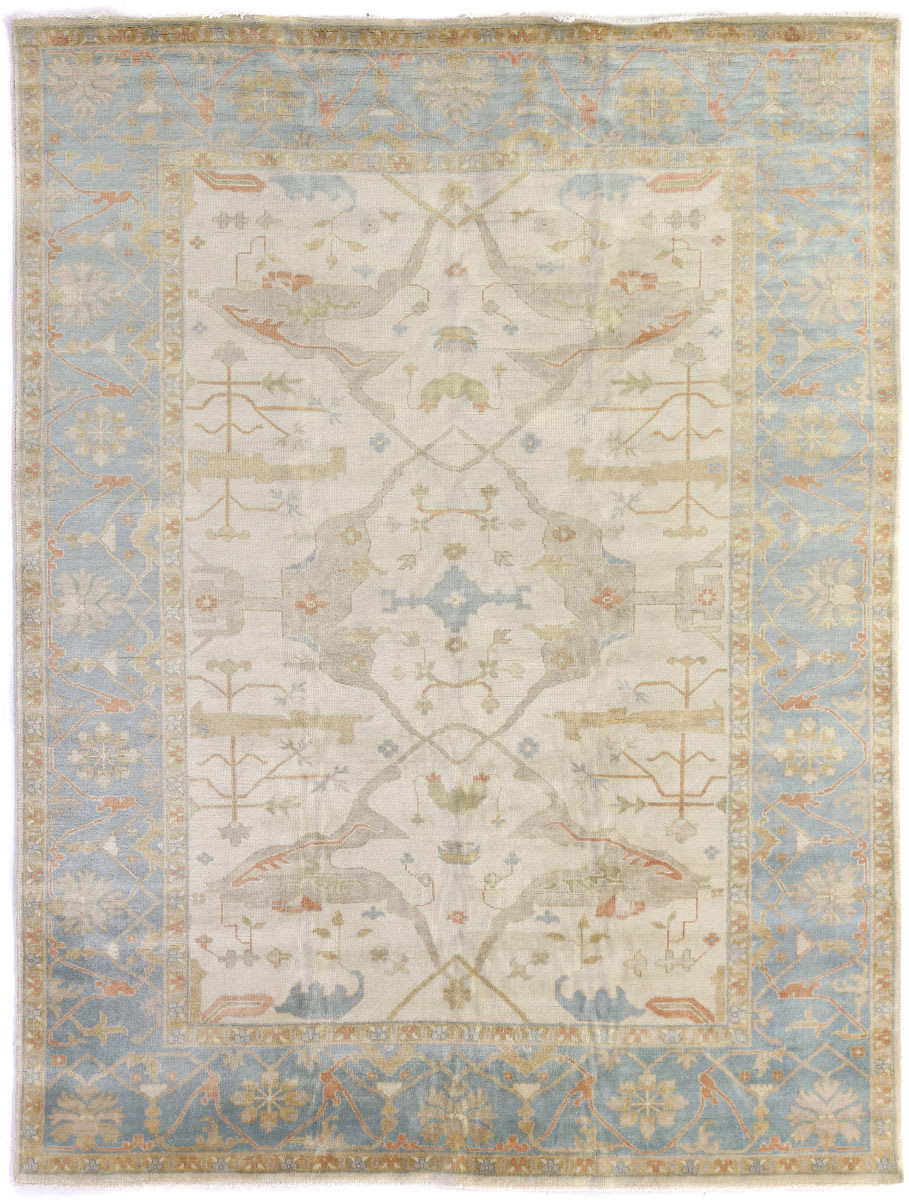 Exquisite Rugs Oushak Hand Knotted 9329