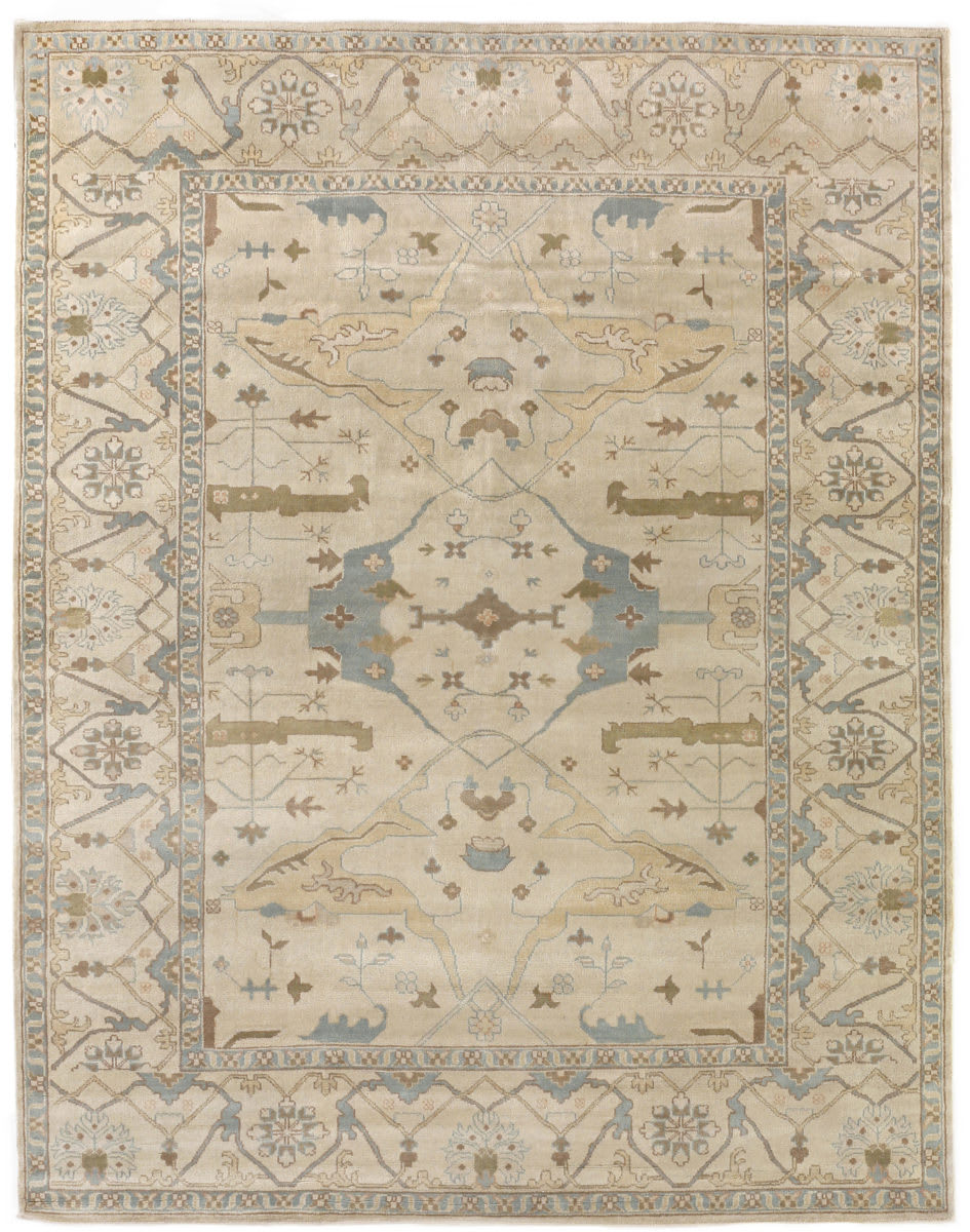 Exquisite Rugs Oushak Hand Knotted 9492