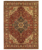 Exquisite Rugs Fine Serapi Hand Knotted 5056 Dark Red Area Rug