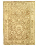 Exquisite Rugs Oushak Hand Knotted 2001 Gray - Brown Area Rug