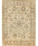 Exquisite Rugs Oushak Hand Knotted 2002 Ivory - Gray Area Rug