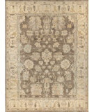 Exquisite Rugs Oushak Hand Knotted 2003 Gray - Ivory Area Rug