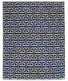 Exquisite Rugs Natural Hair on Hide 2216 Ivory - Navy Area Rug