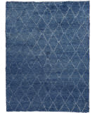 Exquisite Rugs Moroccan Hand Knotted 2243 Blue Area Rug
