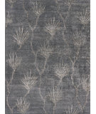 Exquisite Rugs Antique'd Silk Hand Knotted 2433 Dark Gray Area Rug