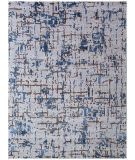 Exquisite Rugs Antolini Hand Woven 2510 Ivory Blue Area Rug
