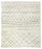 Exquisite Rugs Moroccan Hand Knotted 2561 Ivory - Charcoal Area Rug