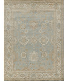Exquisite Rugs Oushak Hand Knotted 3280 Light Blue - Ivory Area Rug