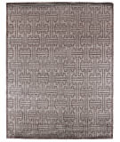 Exquisite Rugs Ikat Hand Knotted 3289 Dark Gray Area Rug