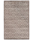 Exquisite Rugs Ikat Hand Knotted 3291 Ivory - Dark Brown Area Rug