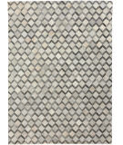 Exquisite Rugs Natural Hair on Hide 3334 Ivory - Silver Area Rug