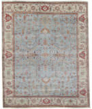 Exquisite Rugs Serapi Hand Knotted 3335 Light Blue - Ivory Area Rug