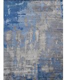 Exquisite Rugs Abstract Expressions Hand Knotted 3339 Blue - Gray Area Rug