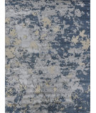 Exquisite Rugs Abstract Expressions Hand Knotted 3340 Dark Gray - Black Area Rug