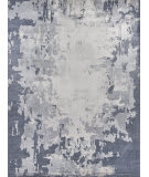 Exquisite Rugs Abstract Expressions Hand Knotted 3341 Blue - Dark Gray Area Rug