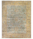 Exquisite Rugs Antique Weave Oushak Hand Knotted 3344 Light Blue - Gold Area Rug
