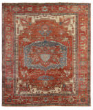 Exquisite Rugs Serapi Hand Knotted 3347 Red - Rust Area Rug