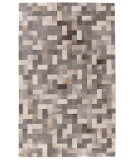 Exquisite Rugs Natural Hair on Hide 3353 Silver - Ivory Area Rug