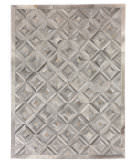 Exquisite Rugs Natural Hair on Hide 3361 Silver - Ivory Area Rug