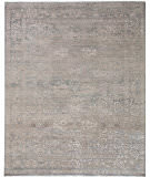 Exquisite Rugs Beverly Hand Knotted 3375 Light Blue - Brown Area Rug
