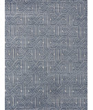 Exquisite Rugs Prague Hand Knotted 3386 Indigo - Ivory Area Rug