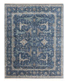 Exquisite Rugs Oushak Hand Knotted 3422 Blue Area Rug