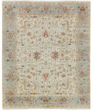 Exquisite Rugs Serapi Hand Knotted 3447 Ivory - Light Blue Area Rug