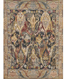 Exquisite Rugs Jurassic Hand Knotted 3800 Black - Beige Area Rug