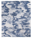 Exquisite Rugs Abstract Expressions Hand Knotted 3997 Blue Area Rug