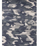 Exquisite Rugs Abstract Expressions Hand Knotted 3998 Navy Blue Area Rug